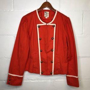 Tulle Anthropologie Large Military Blazer Jacket